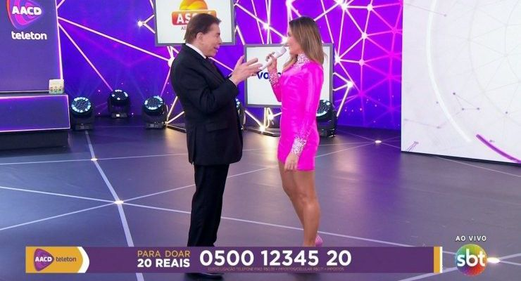 SBT quer novo encontro de Silvio Santos e Claudia Leitte