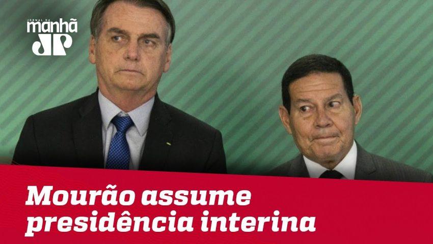 Mourão assume presidência interina durante cirurgia de Bolsonaro