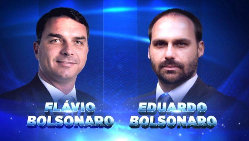 Eduardo e Flávio Bolsonaro participarão de jogo no 'Programa Silvio Santos'