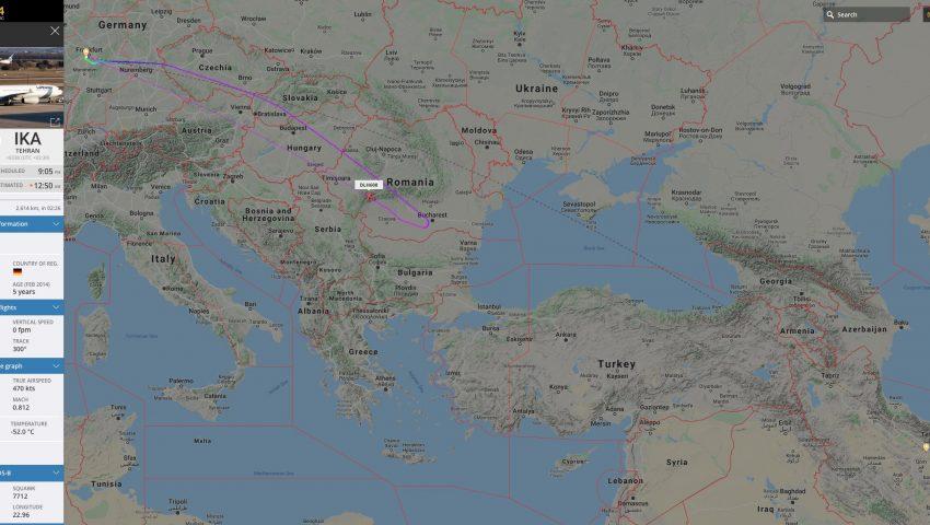 Companhias aéreas cancelam voos para o Irã e aviões em viagem retornam ao aeroporto de origem