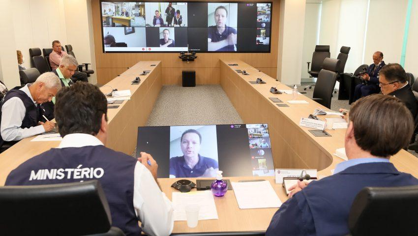 Bolsonaro participa de reunião virtual com Mandetta e prefeitos