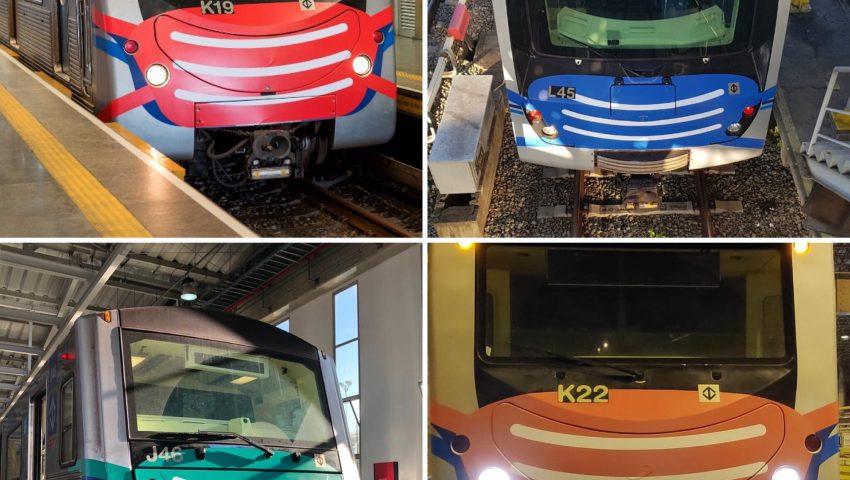 Covid-19: Trens do metrô de São Paulo 'ganham' máscaras