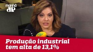 Após queda em maio, produção industrial tem alta de 13,1% em junho | Denise Campos de Toledo