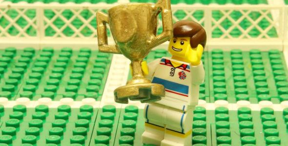 Murray também é campeão de Wimbledon no LEGO