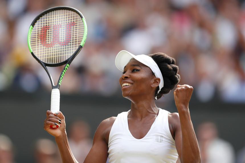 Venus brilhando em Wimbledon
