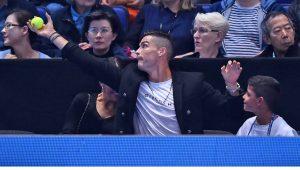Ronaldo curte vitória de Djokovic