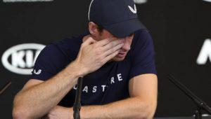 Emocionado, Murray anuncia fim de carreira