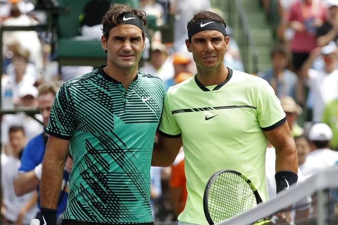 Nadal e Federer juntos na chave em Paris