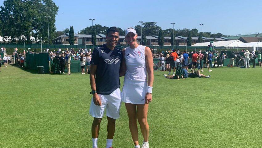 Thiago e Bia na chave em Wimbledon