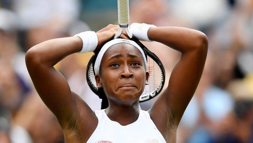 Gauff, a sensação em Wimbledon