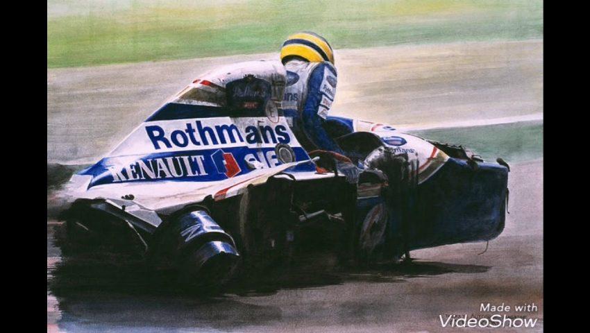 """""""Ayrton Senna bate no cinto e sai do carro""""…"""