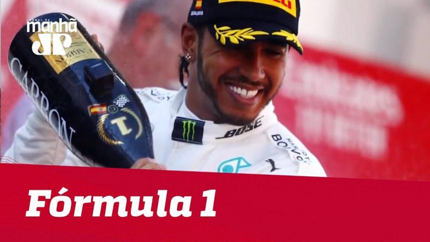 Hamilton vence na Espanha e Mercedes dispara   Máquinas na Pan