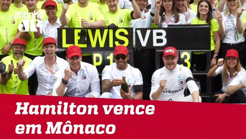 Hamilton segura Verstappen e vence em Mônaco