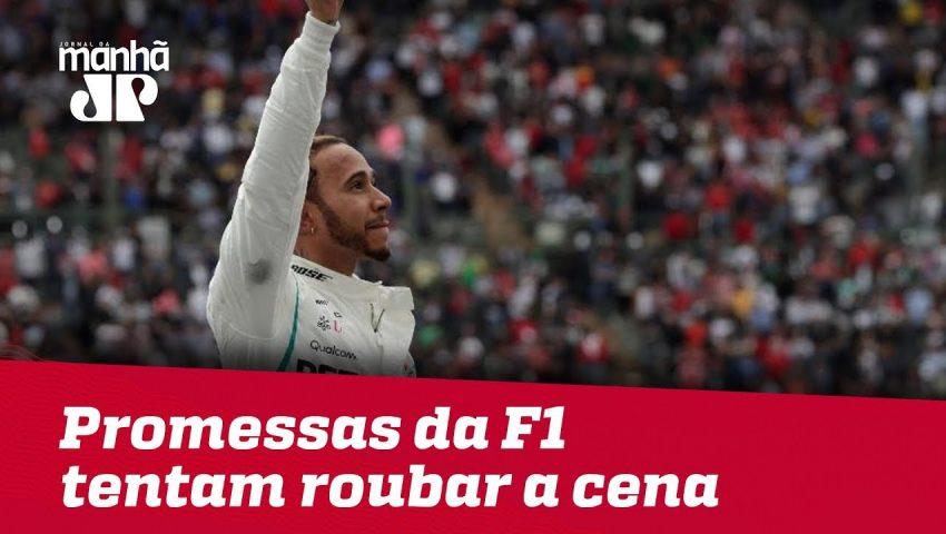 """Promessas da F1 tentam roubar a cena e """"atrapalhar"""" Hamilton na Alemanha"""
