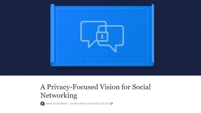 Facebook anuncia mudanças com foco em privacidade e integra Messenger e WhatsApp