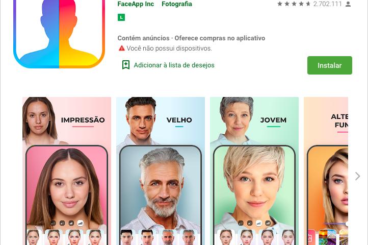 FaceApp: evitar o aplicativo é preservar a sua privacidade e seus dados pessoais