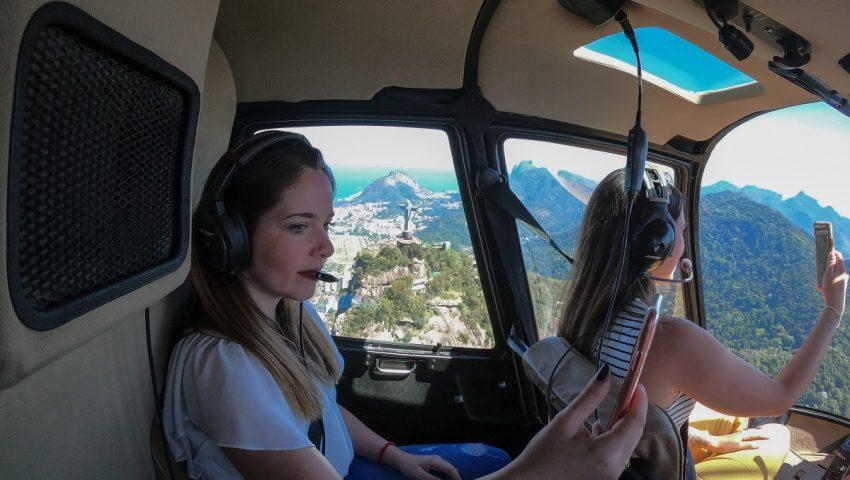 Voo de helicóptero no Rio de Janeiro; veja como é
