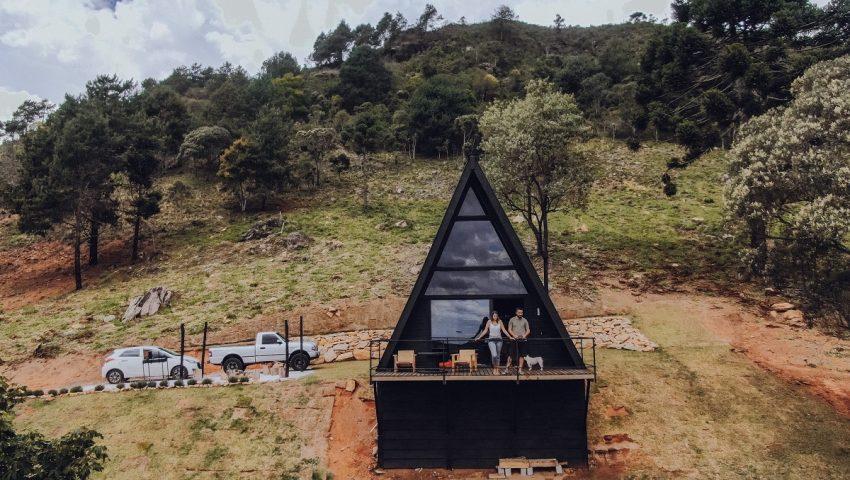 Nomad Place: cabana A-frame em São Bento do Sapucaí