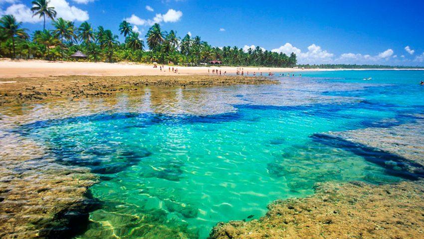 Peninsula de Marau, localizada na famosa Costa do Dendê no sul da Bahia
