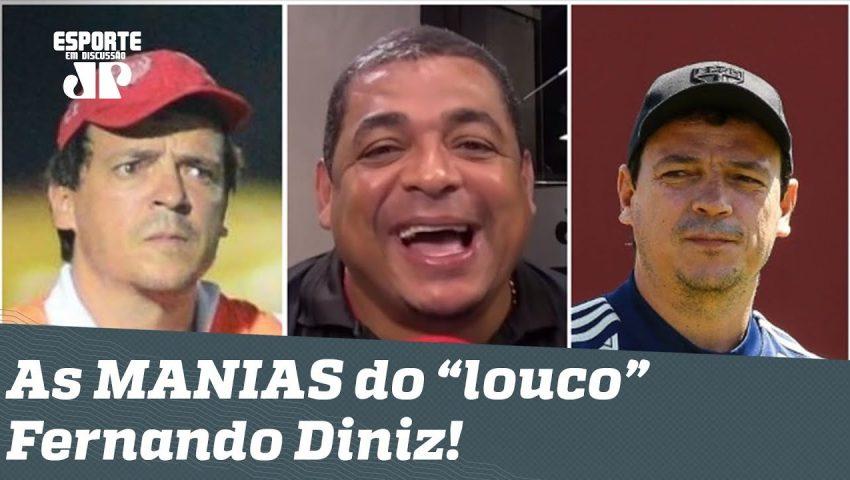 """Histórias do Vampeta: as estranhas MANIAS do """"louco"""" Fernando Diniz!"""